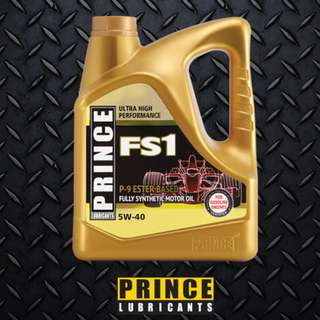 Prince Lubricants FS1 5W40 Fully Synthetic