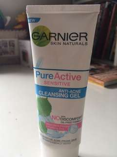 Garnier pure active sensitive face wash