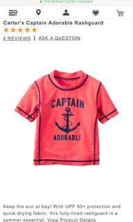 Carters Boy Captain Adorable Rashguard Swim