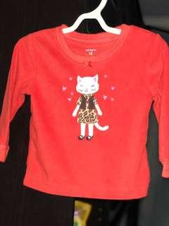 Red cat sweater (12M)