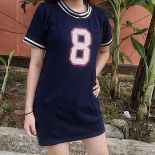 Navy blue 8 shirt dress