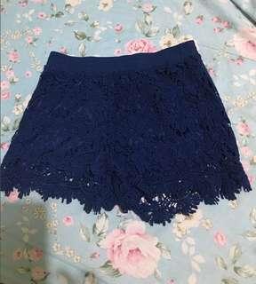 Clearance Sale!!Coachella Royal Blue Eyelet Shorts