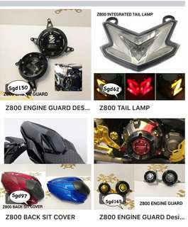 Kawasaki Z800 accessories