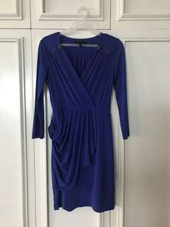 BCBG Maxazria Electric Blue Cocktail Dress
