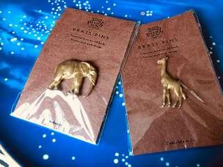 全新 復古大象Brass Pins 購自大阪