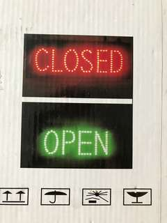 Open n Closed Signage