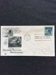 US 1948 Palomar Mountain Observatory FDC stamp