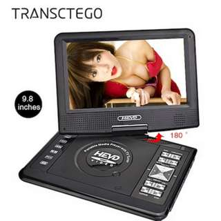 Rotatable Portable TV/DVD Player with Game Function Support CD Player MP3/MP4 Dvd Player Car Home