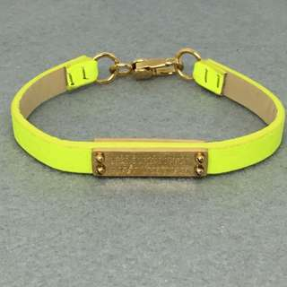 Marc Jacobs Sample Bracelet 螢光黃色真皮手帶手鏈