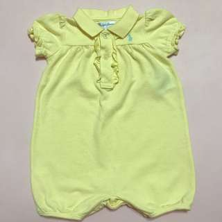 Ralph Lauren Yellow Romper for 3mos