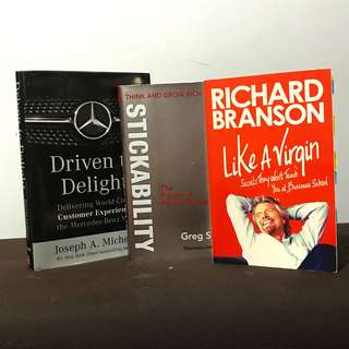 Business Books Bundle C (Mercedes Benz, Virgin, Napoleon Hill Think & Grow Rich£