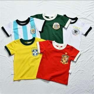 the world cup children boy T-shirt