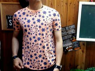 Kaos 1153 Star Peach Kaos Distro Kaos Pria Murah