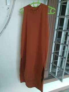 Mullet Dress w/ slits (mustard)