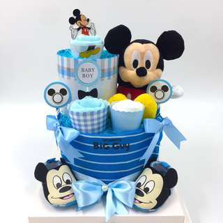 Authentic Micky Mouse 2-tier Diaper Cake