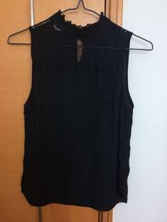 Zara Basic Polyester Lace Top