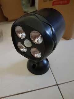 Sensor motion light with battery operation light