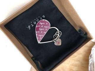Agnes b key chain 心形鎖匙扣 (全新/100%new)!!