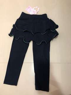 🚚 Navy blue tutu leggings