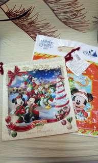 迪士尼 disney  收納袋 索繩袋 聖誕節 christmas 2015 日本 東京 tokyo 米奇 mickey 唐老鴨 donald duck 高飛狗