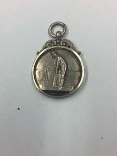 英國舊銀小圓牌