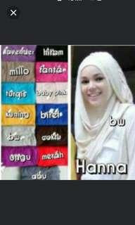 Hijab Hana instan jersey