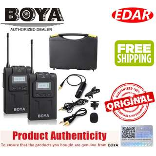 BOYA BY-WM6 UHF WIRELESS MICROPHONE SYSTEM ««ORIGINAL & OFFICIAL BOYA»»