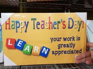 Happy Teachers Day wall pic 40x 25x 1.5cm (JR-12)