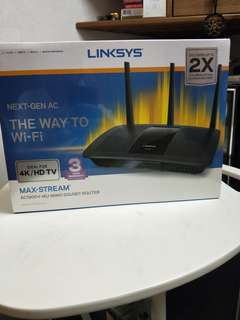 Linksys MAX-STREAM AC 1900+MU-MIMO GIGABIT ROUTER