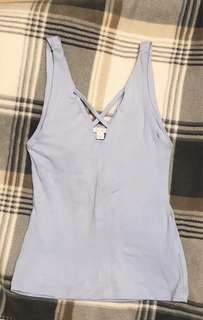 Kookai Light Blue Strappy Top