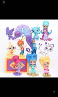 Instock shimmer and shine party cake toppers /figurines 12pcs set brand new