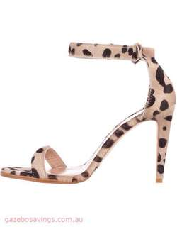 The Mode Collective Ankle Strap Heels Au 8 Sandals Leather Leopard Pony 39 $280