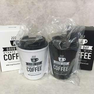 全新 Rivers Bring Your Own Cup 隨行杯2隻 (Black & White, set of 2)