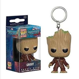 Funko POP Key chain Groot Guardian of Galaxy