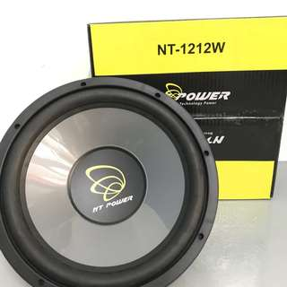 NT POWER 12'' HI POWER SUB-WOOFER SPEAKER 380WATTS