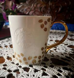 Starbucks Limited Edition Gold Handle and Coffee Beans Mug for Sale at Php 1,100 only (No SKU, unused)