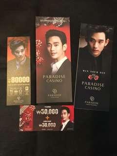 金秀賢Paradise casino 宣傳品set