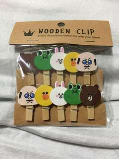 LINE Wooden Clips