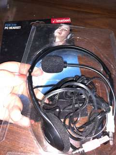 Imation headphone with speaker