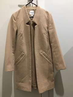 TIGER MIST / Myer cream beige coat jacket - size XS