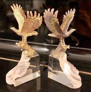 Eagle on crystal