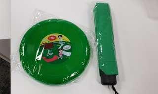 Frisbee & umbrella set