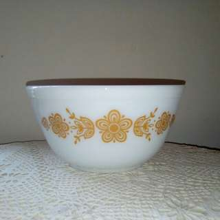 PYREX bowl, Butterfly gold, 1970's