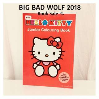 Hellokitty Books Jumbo Colouring Buku Anak import sanrio