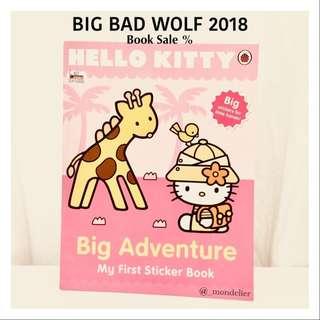 Hellokitty Books Big Adventure My first sticker Buku Anak import sanrio