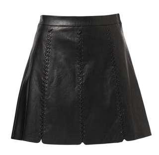 Sports Whipstitch PU Skirt