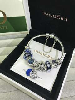 Pandora手鏈藍色系列 潘多拉潘朵拉首飾禮物925銀 有齊包裝