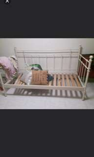 Single sized day bed frame