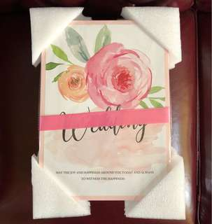 🚚 Wedding Guestbook | Pink Guest book | Guests book | Pink guestbook