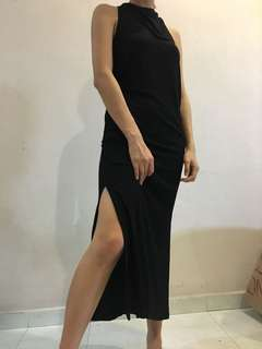 H&M Long Black Maxi Dress (Size XS)